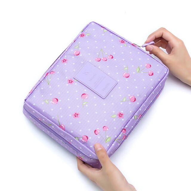 Сумка органайзер для косметики - Фиолетовый