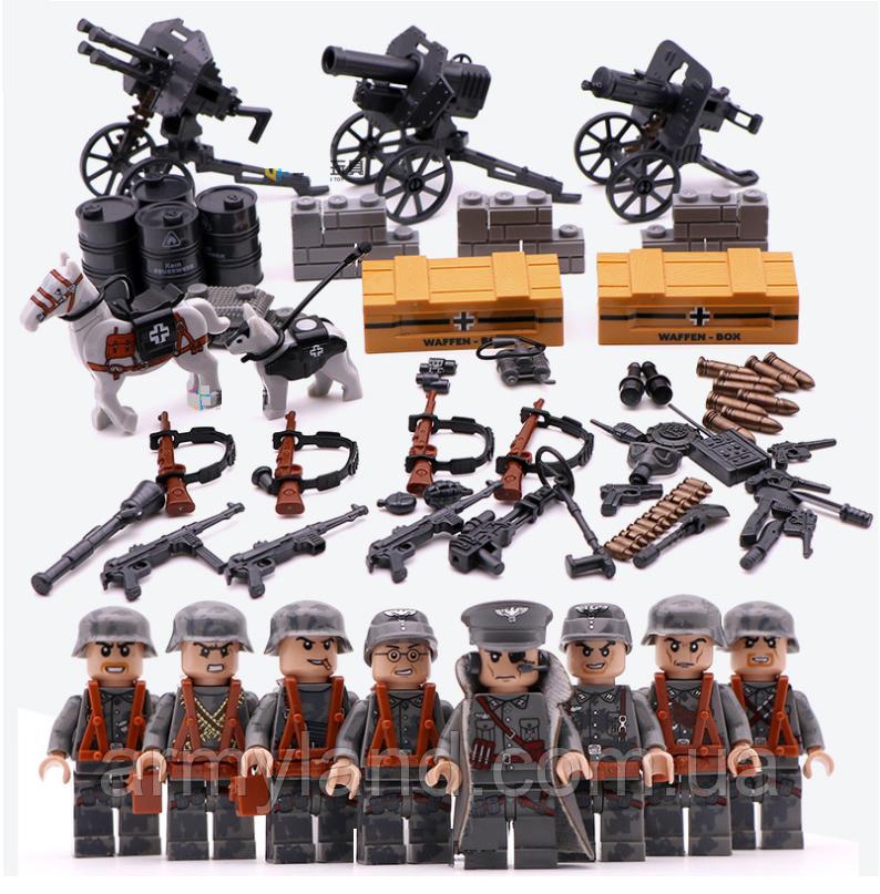 Военные фигурки,Элитные Немецкие Войска Worlf of War II военный конструктор , аналог лего, BrickArms