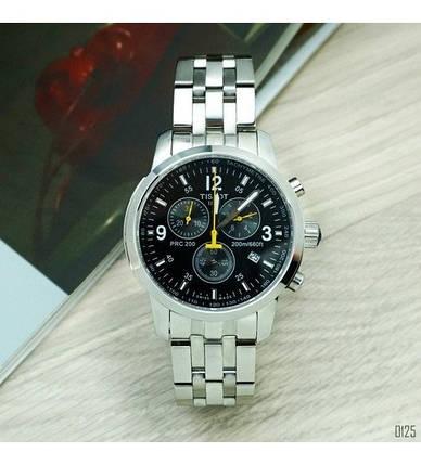 Наручные часы Tissot T-Sport PRC 200 Chronograph Silver-Black-Yellow, элитные часы Тисот, реплика ААА, фото 2