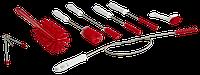 Набор ершиков для очистки мелких деталей машин,красный