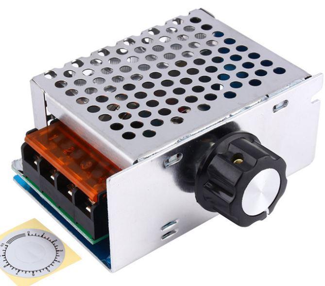 Регулятор мощности в корпусе- диммер 4000W 220V фазовый симисторный BTA41-600