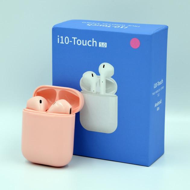 Беспроводные Bluetooth наушники HBQ i10 Touch TWS V5.0 Pink