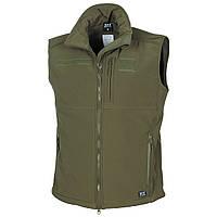 Теплый жилет-куртка с флисовой подкладкой Soft Shell MFH 04165B олива