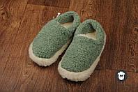 Зелёные чуни для дома, чуни из овечьей шерсти, комнатные тапочки, чуни домашние, фото 1