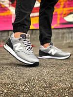 Мужские кроссовки NEW BALANCE из натуральной кожи, два цвета