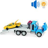 Машина эвакуатор игрушка с машинкой, свет, звук, открываются двери и капот, DRIVEN MICRO, WH1008Z