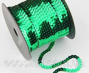 (100ярдов) Паєтки на нитці О6мм (91метр) Колір - Зелений (сп7нг-1676)