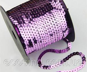 (100ярдов) Паєтки на нитці О6мм (91метр) Колір - Бузково-рожевий (сп7нг-1679)