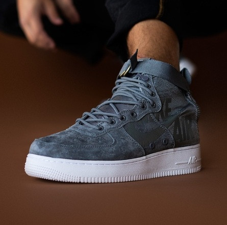 Мужские кроссовки Nike Air Force Special Field SF AF1 Grey 40-45рр. Живое фото (Реплика ААА+)