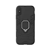 Противоударный чехол Armor Ring для Samsung A8+ Plus / A730 Black