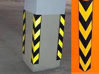 Демпфер парковочный угловой резиновый, защита углов колонн и стен
