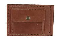 Кошелек мужской кожаный зажим для купюр SULLIVAN kmzdk6(5.5) светло-коричневый, фото 1