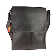 Сумка A4 для документов мужская вертикальная кожаная планшет SULLIVAN smvp64(45) коричневая