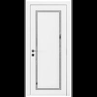Межкомнатная дверь RODOS CORTES PORTO белый мат, полустекло