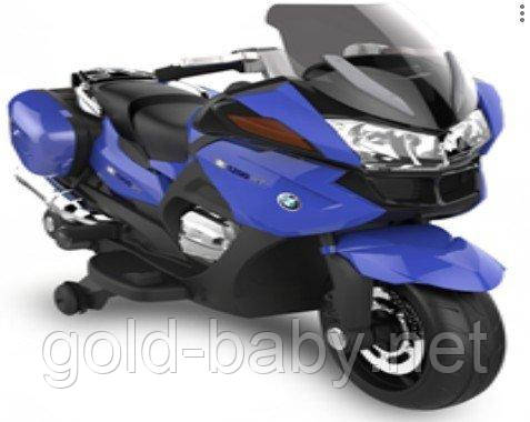 Детский электромотоцикл BMW 118, синий