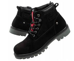 Черные зимние мужские ботинки  Levis Hodges, р.41-46