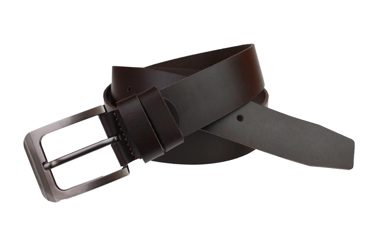 Ремень мужской кожаный джинсовый SULLIVAN  RMK-7(7) 115-150 см коричневый