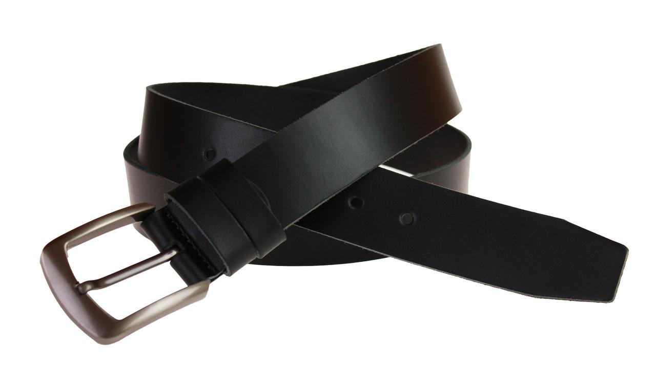 Ремень мужской кожаный джинсовый SULLIVAN  RMK-31(7) 115-150 см черный