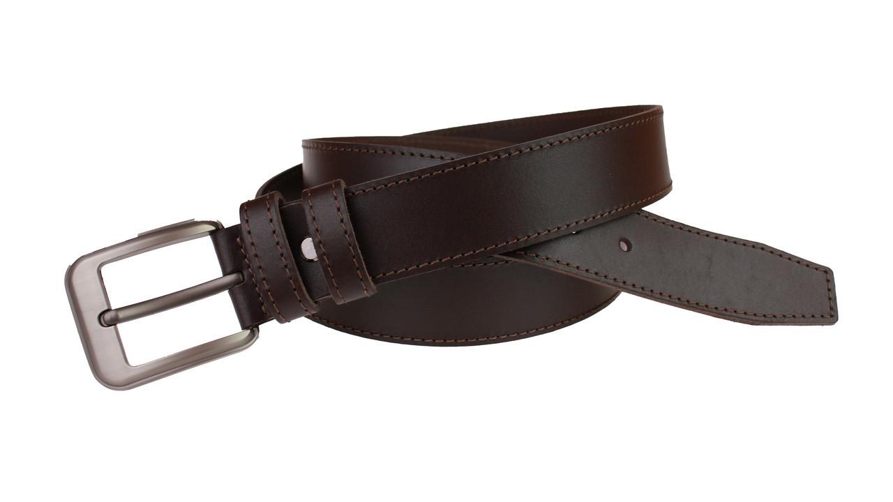 Ремень мужской кожаный джинсовый одна строчка SULLIVAN  RMK-13(7.5) 115-150 см коричневый