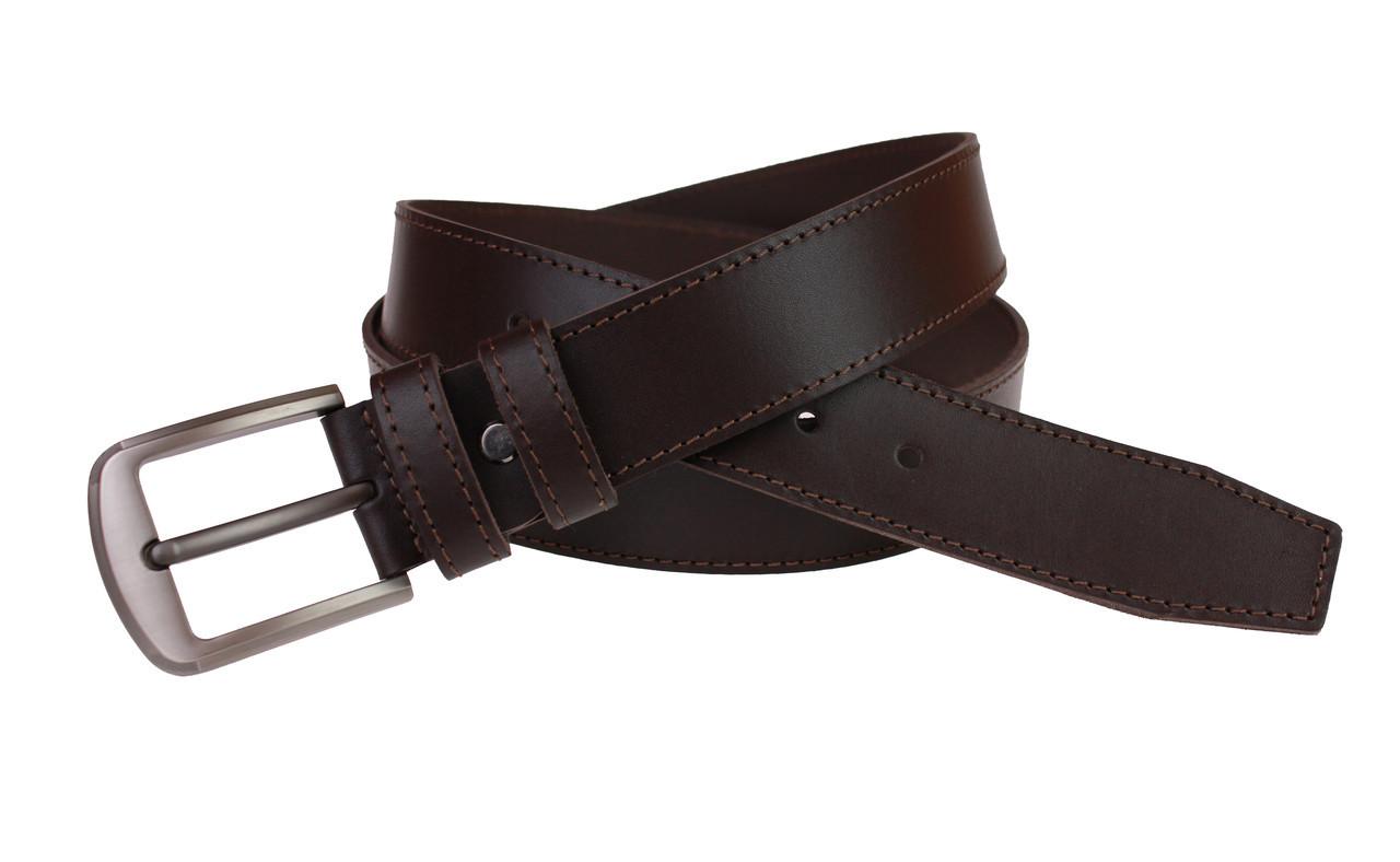Ремень мужской кожаный джинсовый одна строчка SULLIVAN  RMK-14(7.5) 115-150 см коричневый
