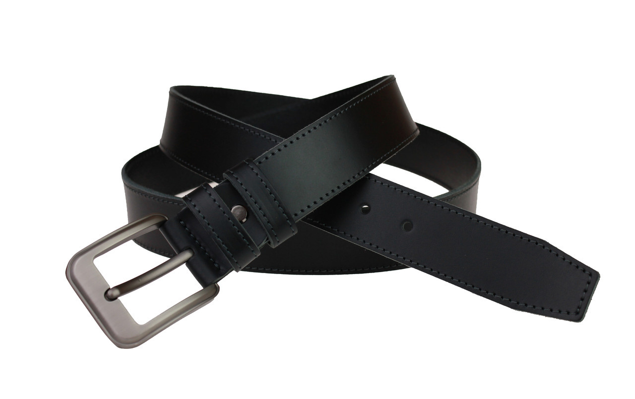 Ремень мужской кожаный джинсовый одна строчка SULLIVAN  RMK-43(7.5) 115-150 см черный