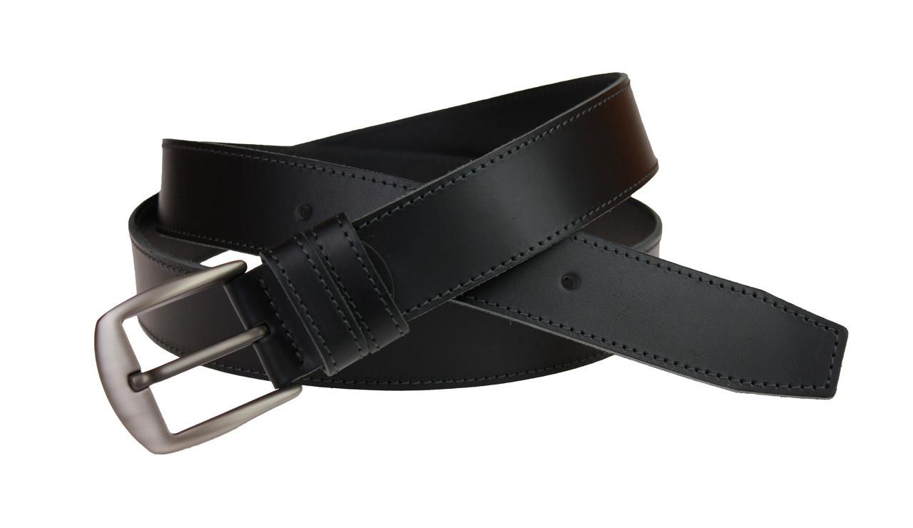 Ремень мужской кожаный джинсовый одна строчка SULLIVAN  RMK-45(7.5) 115-150 см черный