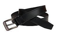 Ремень мужской кожаный джинсовый двойная строчка SULLIVAN  RMK-53(8) 115-150 см черный, фото 1