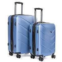 Чемодан комплект 2 шт. ABS-пластик 8340 blue, фото 1