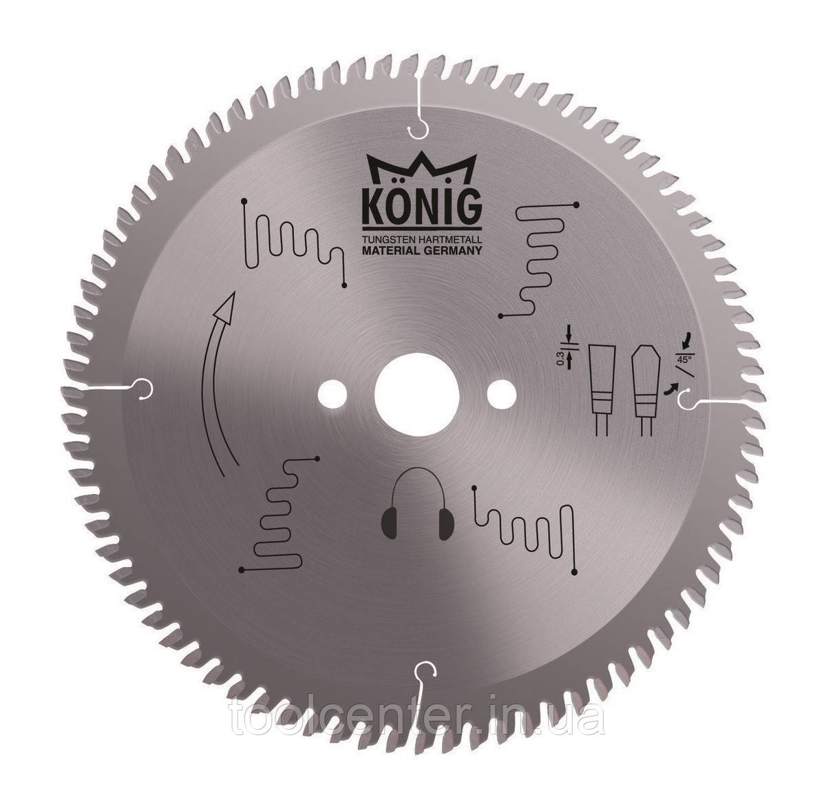 Пила для алюминия и ПВХ Konig 420x4,0x32 Z120
