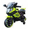 Детский мотоцикл 158, мягкое сиденье, зеленый