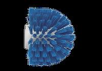 Щетка-ерш для очистки труб, гибкая ручка, Ø175 мм, средний ворс, синий цвет
