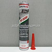 TEROSON PU-8590 Клей-герметик полиуретановый для вклейки стекол черный в гильзе (2 часа без подушки безопасности) 310мл
