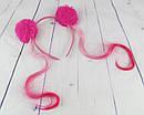 Обручи для волос с меховыми помпонами и прядками 6 шт/уп., фото 2