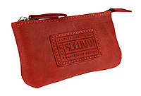 Ключница кожаная сумочка для ключей SULLIVAN k4(5.5) красная, фото 1
