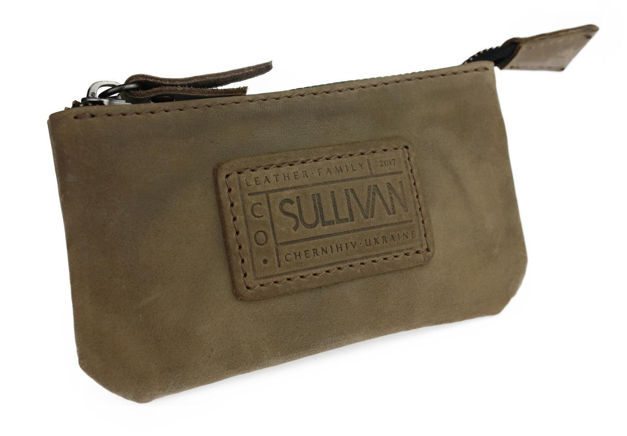 Ключница кожаная сумочка для ключей SULLIVAN k8(5.5) оливковая
