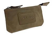 Ключница кожаная сумочка для ключей SULLIVAN k8(5.5) оливковая, фото 1
