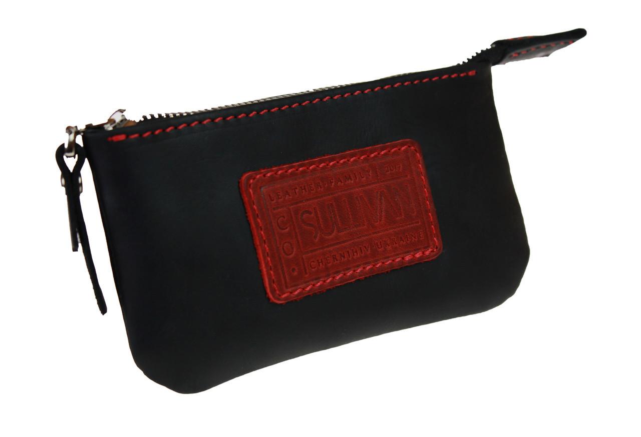Ключница кожаная сумочка для ключей SULLIVAN k10(5.5) черная