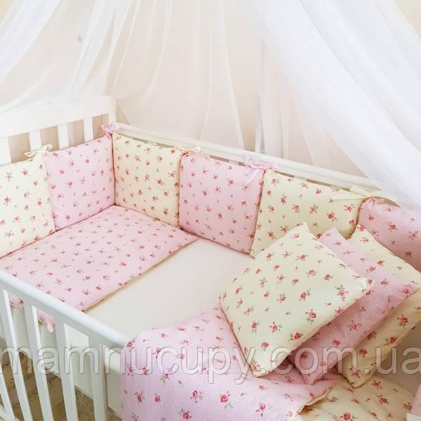Бортики Baby Design Прованс розовый