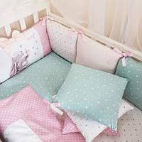 Бортики в детскую кроватку Akvarel зайка с бабочкой ТМ «Маленькая Соня»