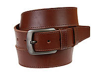 Ремень мужской кожаный джинсовый одна строчка SULLIVAN  RMK-91(8.5) 115-150 см светло-коричневый