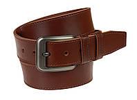 Ремень мужской кожаный джинсовый одна строчка SULLIVAN  RMK-93(8.5) 115-150 см светло-коричневый