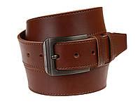 Ремень мужской кожаный джинсовый одна строчка SULLIVAN  RMK-97(8.5) 115-150 см светло-коричневый