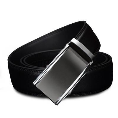 Мужской Ремень Кожаный с Автоматической Пряжкой Пояс Cowather (CW022) Черный 125см