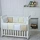 Бортики в детскую кроватку Зайчики молочный ТМ «Маленькая Соня», фото 2