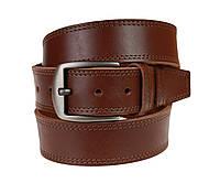 Ремень мужской кожаный джинсовый двойная строчка SULLIVAN  RMK-105(9) 115-150 см светло-коричневый