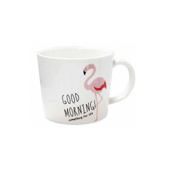 Чашка керамическая EL Розовый фламинго 200 мл good morning