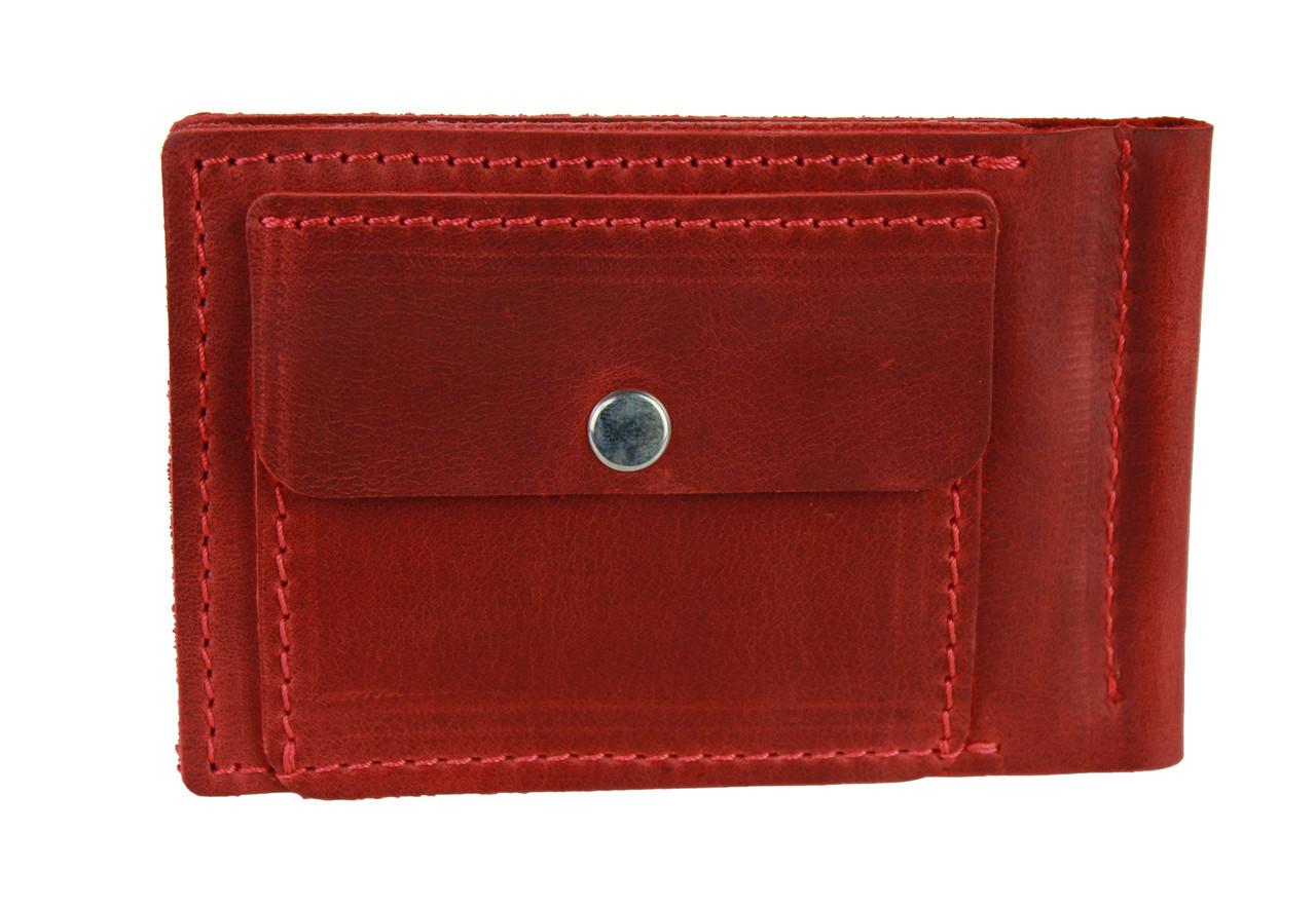 Кошелек женский кожаный зажим для купюр SULLIVAN kgzk3(5.5) красный
