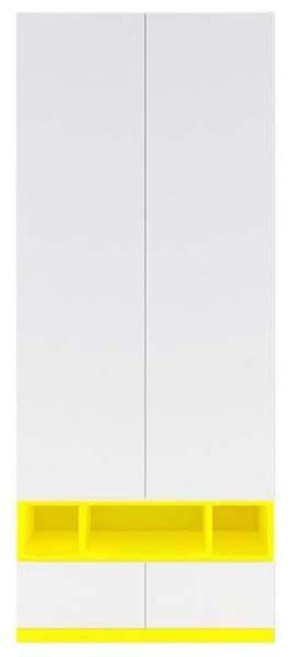Шкаф для вещей Моби SZF_2D/2S нимфея альба/униколор желтый