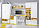 Шкаф для вещей Моби SZF_2D/2S нимфея альба/униколор желтый, фото 3