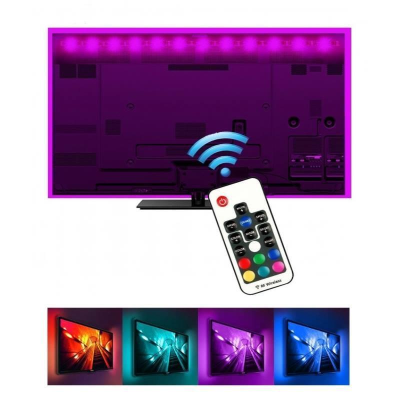Светодиодная подсветка LED лента BRT RGB 2 м с пультом и USB интерфейсом